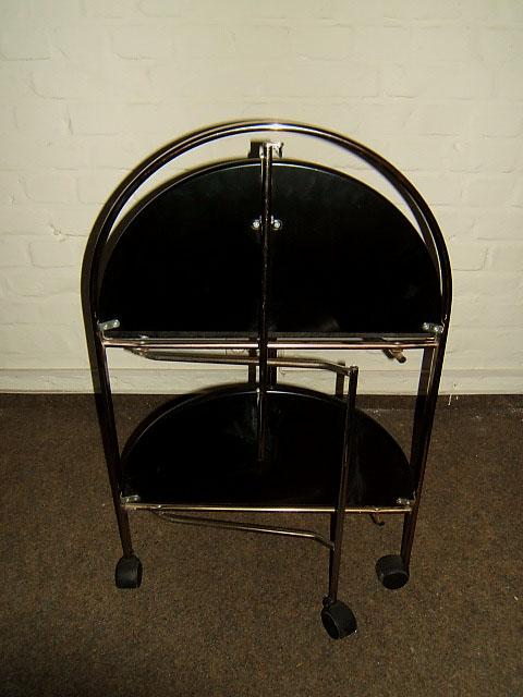 design teewagen dinett rund klappbar ebay. Black Bedroom Furniture Sets. Home Design Ideas