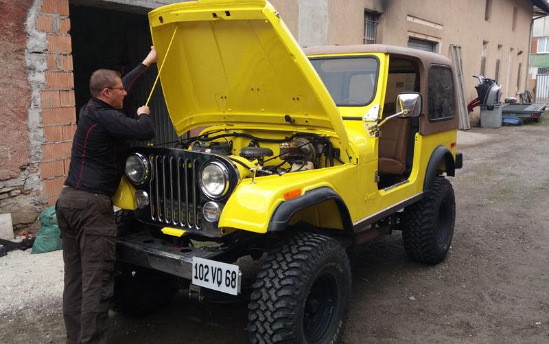 Jeepmania afficher le sujet restauration et pr pa cj7 for Garage jeep luxembourg