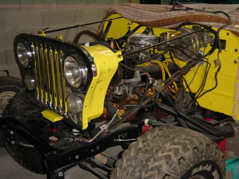 Restauration et prépa CJ7 V-8 AMC 360 Golden Eagle 27720810zy