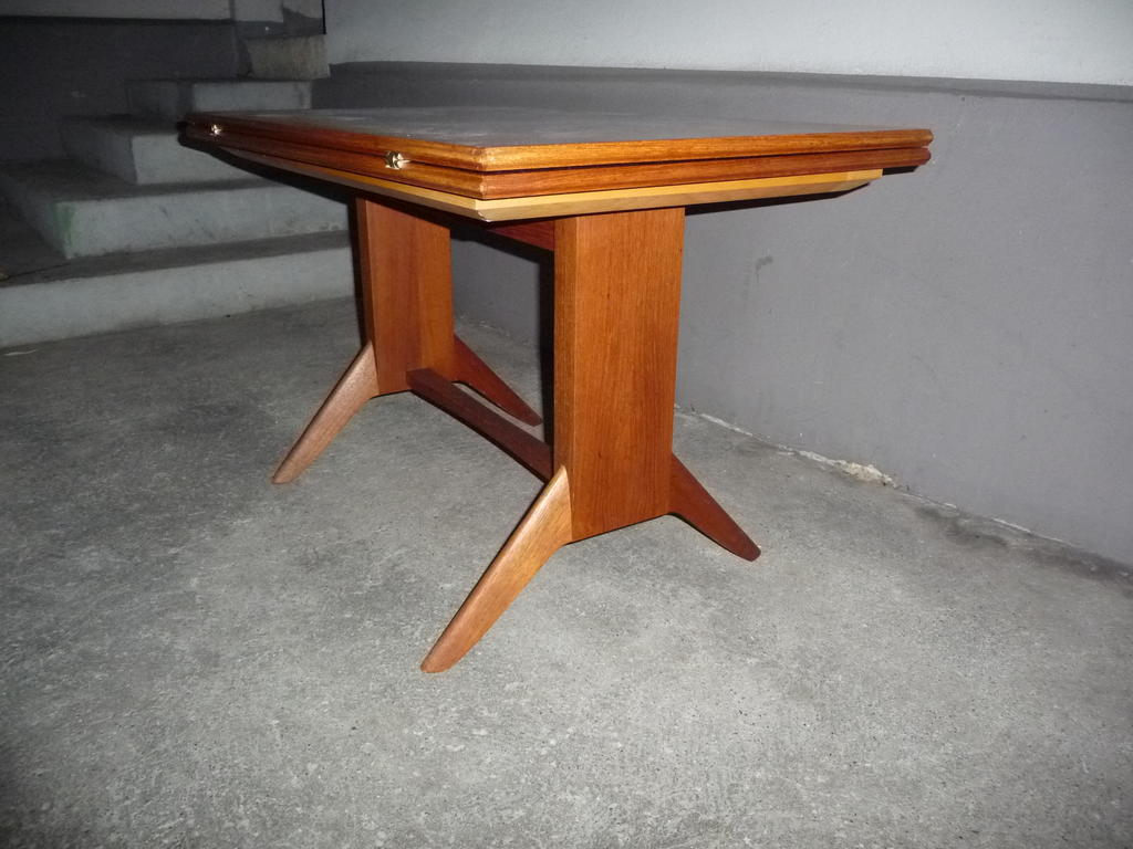 Tisch im d nisch design teak holz 50er kaufen auf for Tisch 50er design