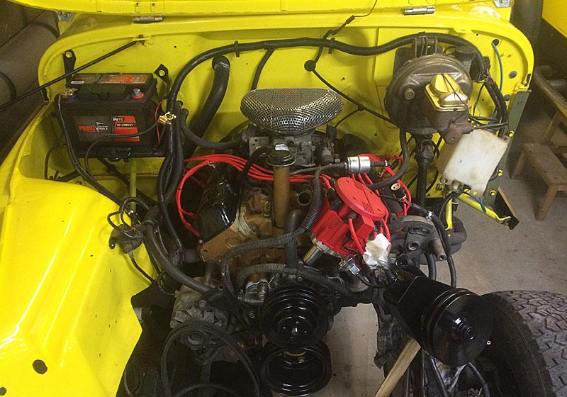 Restauration et prépa CJ7 V-8 AMC 360 Golden Eagle 27861008ve