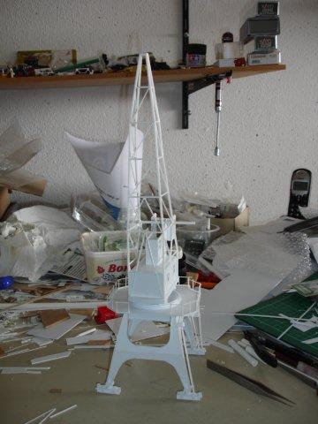 Baustufenbilder eines Hafenkran in H0 27934801qx