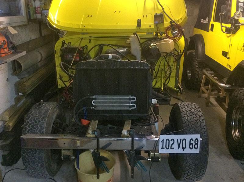 Restauration et prépa CJ7 V-8 AMC 360 Golden Eagle 27963492is