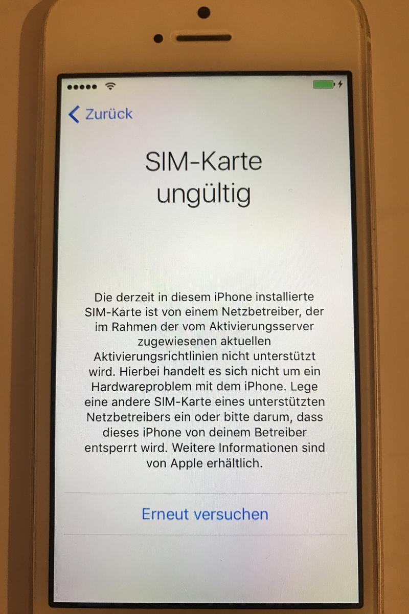 iphone 4 erkennt simkarte nicht mehr
