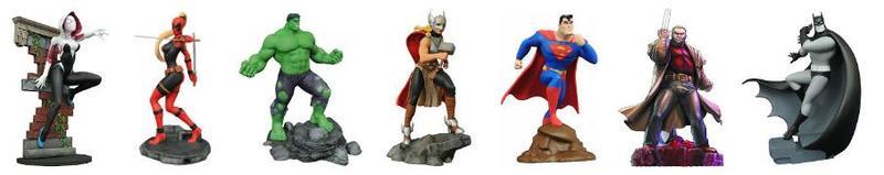 Gallery PVC Statuen Marvel und DC