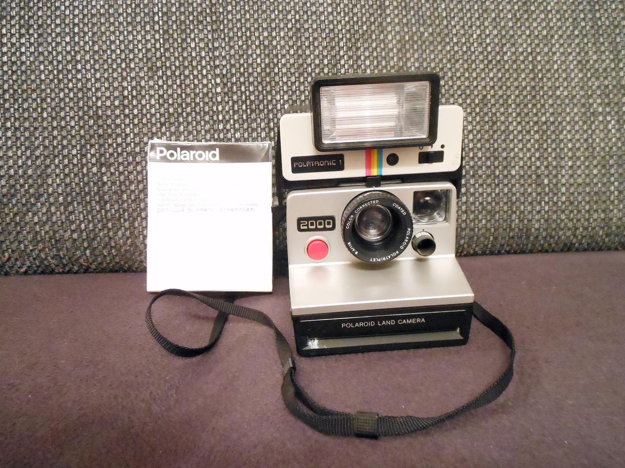 polaroid land camera 2000 sofortbildkamera polatronic 1 original film sx 70 ebay. Black Bedroom Furniture Sets. Home Design Ideas