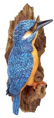 eisvogel am stamm deko figur eisv gel vogel blauer blitz gartenfigur licher bier ebay. Black Bedroom Furniture Sets. Home Design Ideas