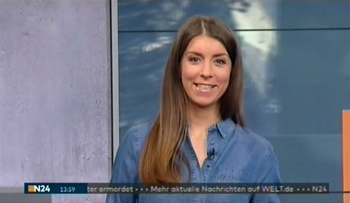 Lena Mosel mit den Nachrichten bei N24 am 26.01.2017