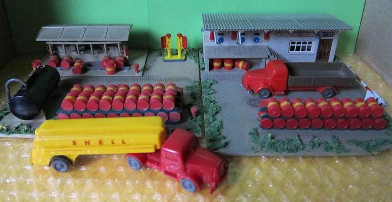 Kibri 9901 H0 Büro mit Abfüllrampe für Tanklager,gesuppert,1:87,selten /& RAR