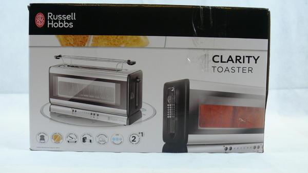 russell hobbs 21310 56 clarity glas toaster glastoaster ebay. Black Bedroom Furniture Sets. Home Design Ideas