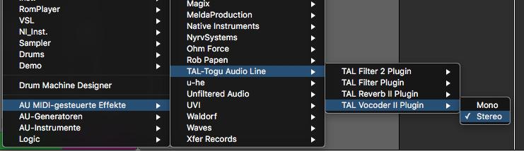 TAL Vocoder in Logic Pro x verwenden - logicuser de
