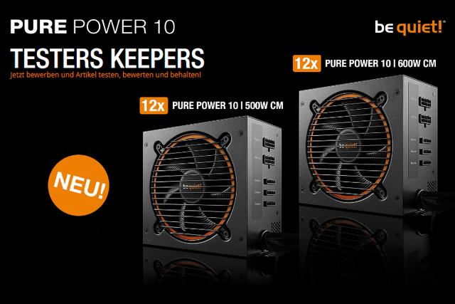 28549206qp - be quiet! PURE POWER 10 | 500W + 600W CM Testers Keepers