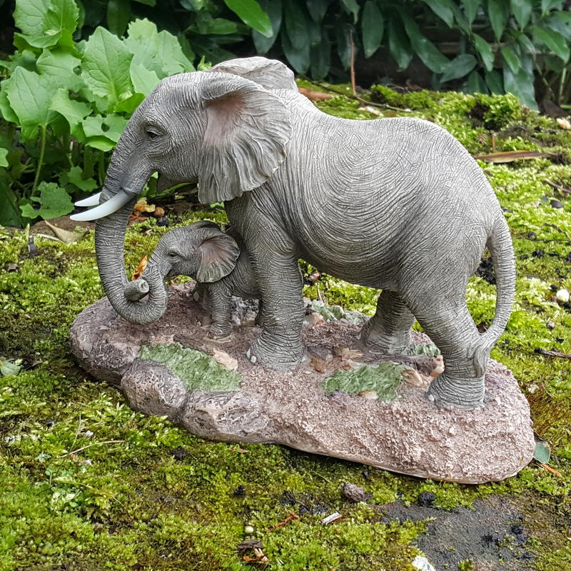 elefanten deko figur mutter kalb afrika asien dschungel safari savanne wildlife ebay. Black Bedroom Furniture Sets. Home Design Ideas