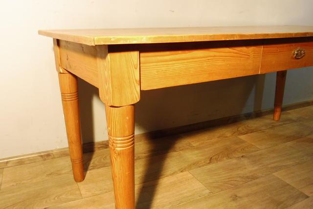Tisch esstisch wohnzimmertisch in weichholz jugendstil um for Wohnzimmertisch jugendstil