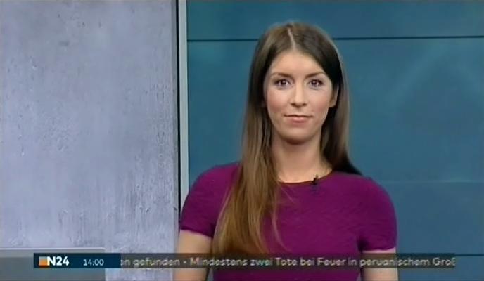 Lena Mosel mit den Nachrichten bei N24 am 20.03.2017