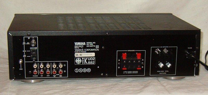 yamaha hifi receiver rx 385 stereo receiver yamaha rx. Black Bedroom Furniture Sets. Home Design Ideas
