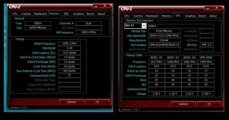 CMK16GX4M2B3000C15 + Which are the correct timings @2400MHz? - The