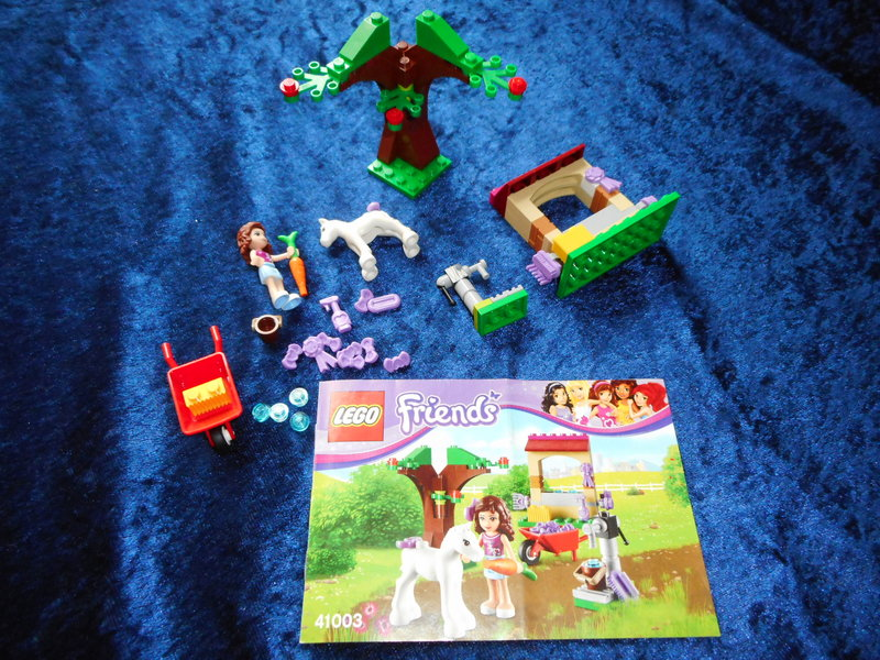 lego friends 41003 olivias fohlen mit bauanleitung lego pferd friends ebay. Black Bedroom Furniture Sets. Home Design Ideas