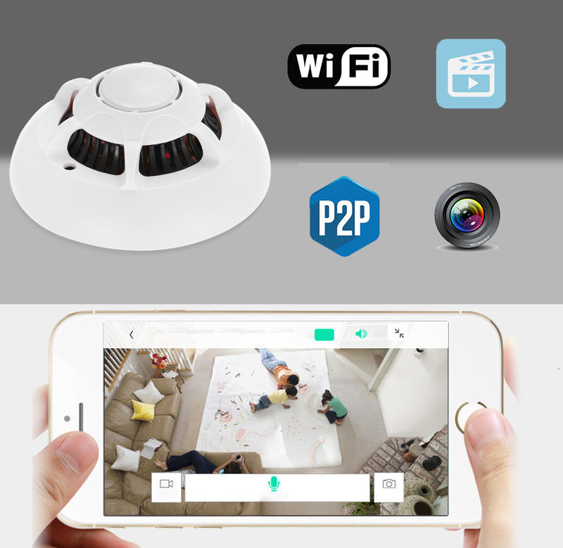 rauchmelder hd spy cam versteckte ip kamera wifi spion app berwachung bis 32gb ebay. Black Bedroom Furniture Sets. Home Design Ideas