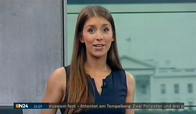 Lena Mosel mit den Nachrichten bei N24 am 14.07.2017