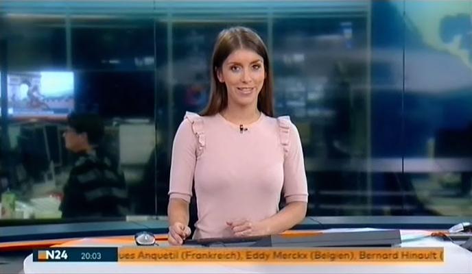 Lena Mosel mit den Nachrichten bei N24 am 23.07.2017