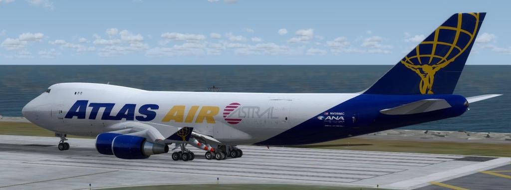 PMDG 747 QOTS II Atlas Air fleet Repaints - Globe Cargo