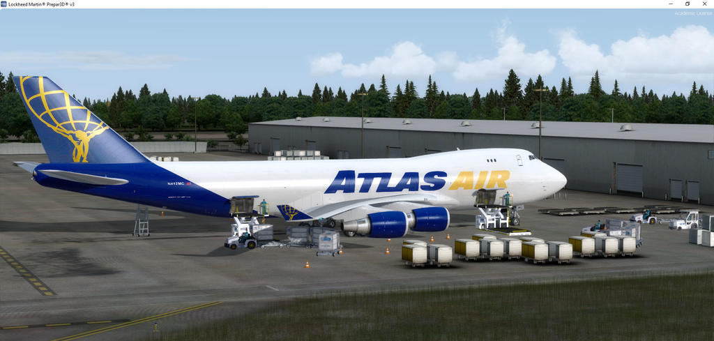 PMDG 747 QOTS II Atlas Air fleet Repaints - Globe Cargo