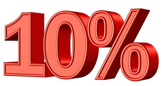 10-Prozent sparen