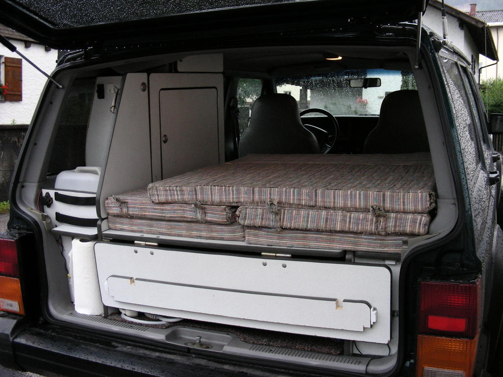 4x4 Camper with sleeping area.
