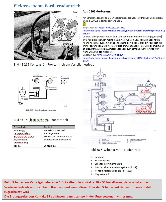Schalter am verteilergetribe überbrücken - Volvo 4WD Oldtimer - C303 ...