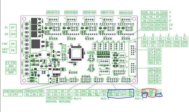ramps, tmc2130s, and lcd page 2 tom's 3d forums  ramps 1 6 wiring diagram #40