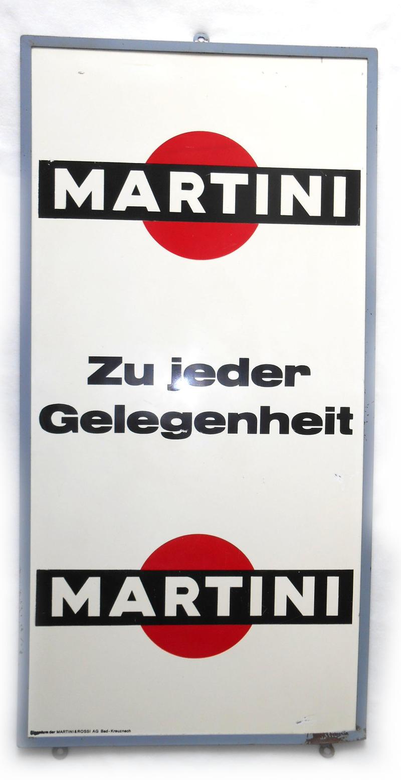 Martini | Schilderjagd, alte Emailleschilder und Blechschilder