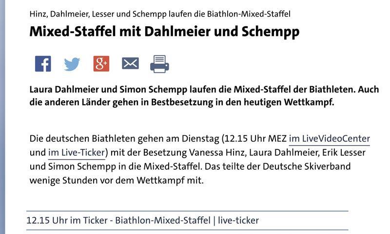biathlon heute live ticker