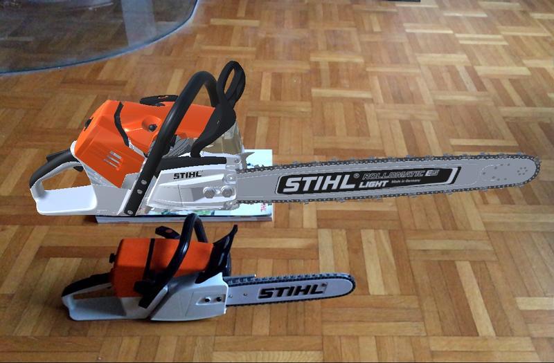 John Deere 214 >> Stihl MS 500i • Motorsägen-Portal