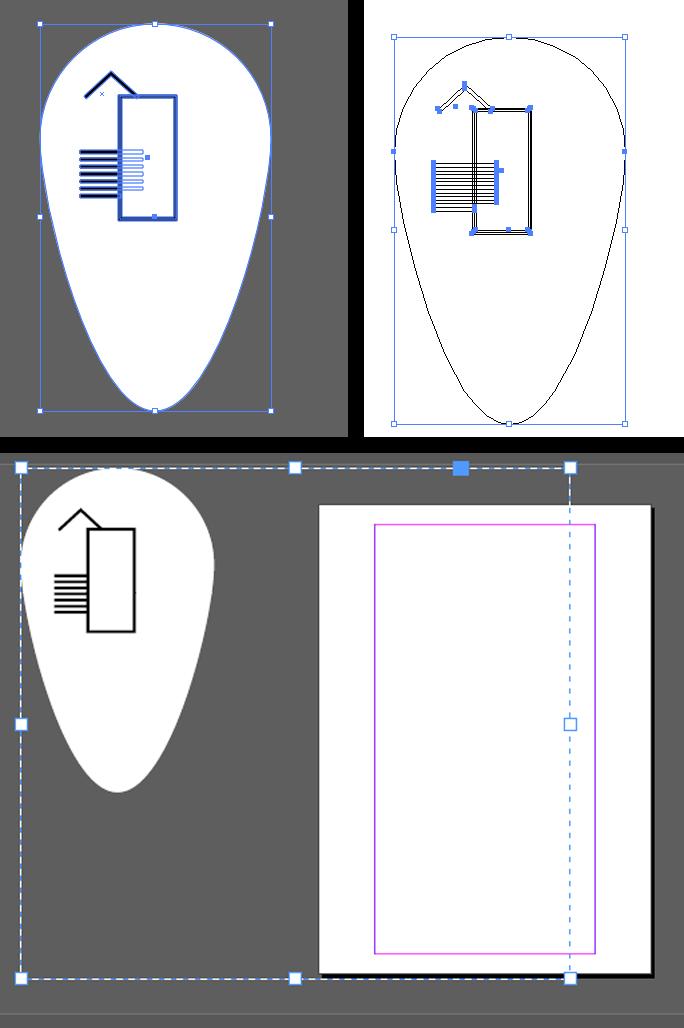 Von Illustrator in InDesign kopieren: Komischer Rahmen