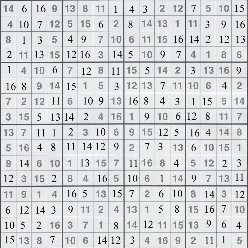 Werner 0061 Sudoku groß>>gelöst von Daddy 32644904yz
