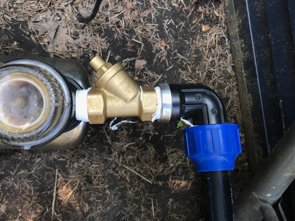 Trotz Ruckschlagventil Fallt Wassersaule Nach Abschalten Der Pumpe