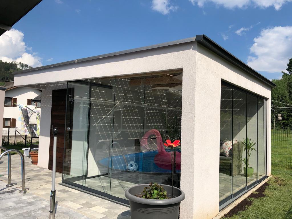 Cool Poolhaus Bauen Dekoration Von Bild