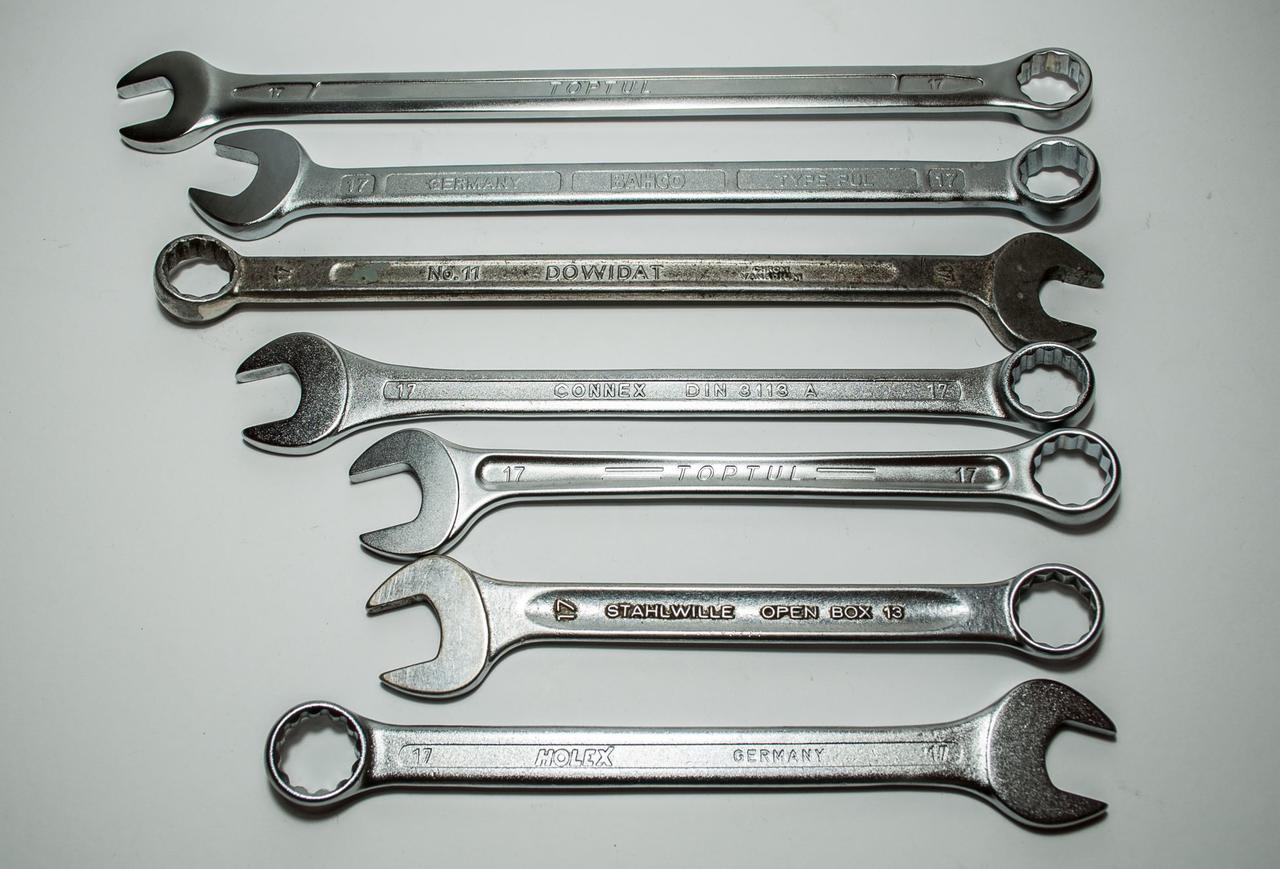 Combination Wrench Set 6mm-19mm Spanner Mechanic Plumber Opened Ring SM Sales