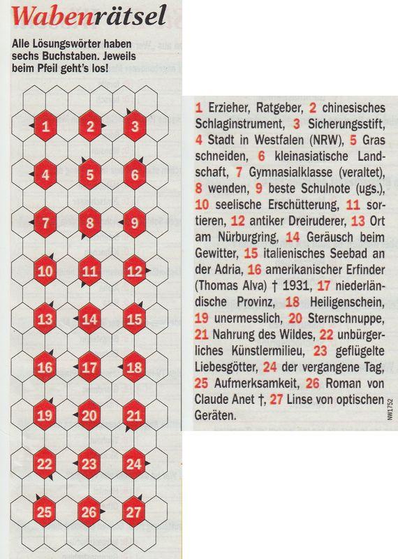 Werner 0090 Wabenrätsel>>gelöst von Milka 32944047pb