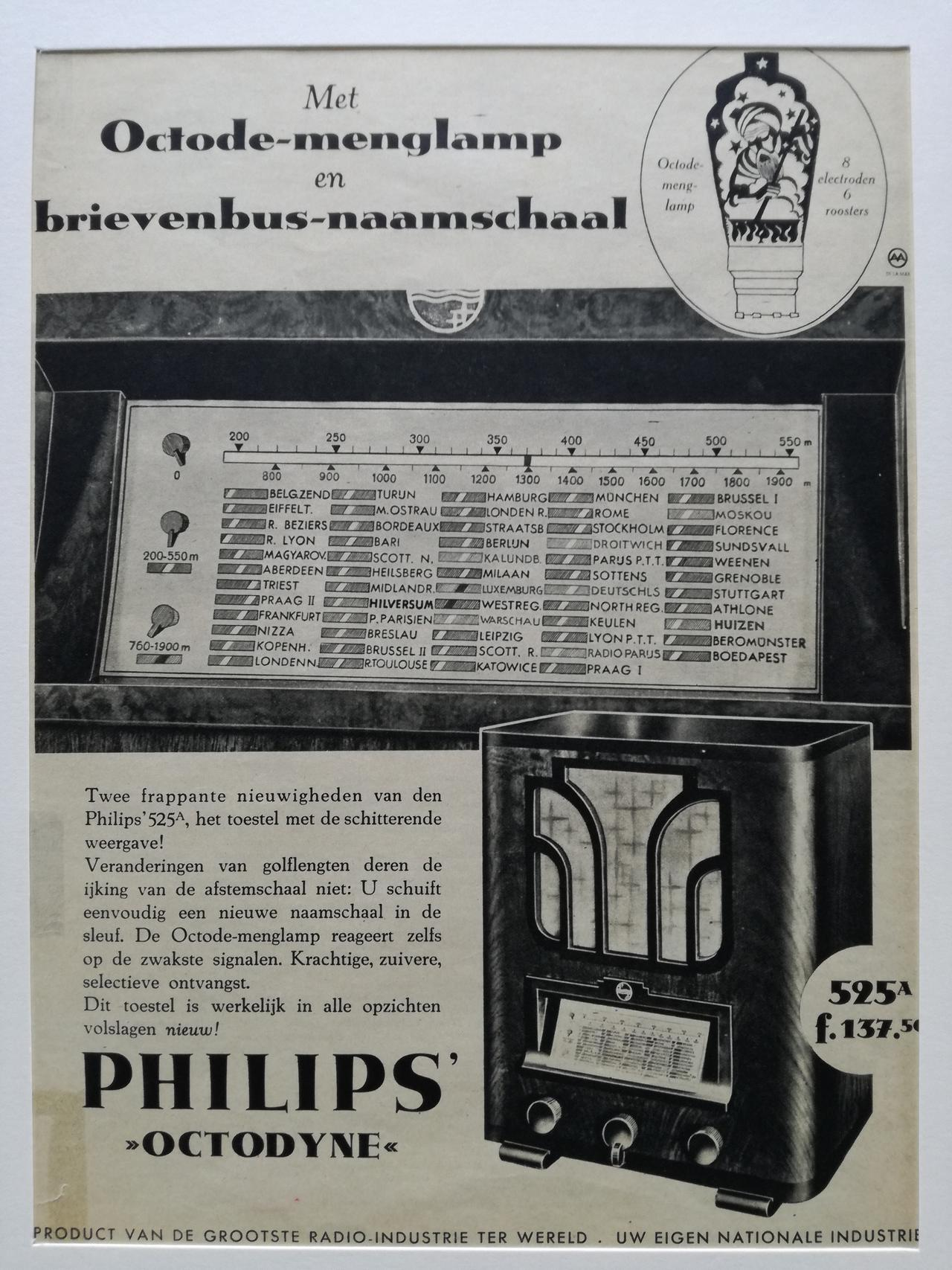 Philips radio 1938