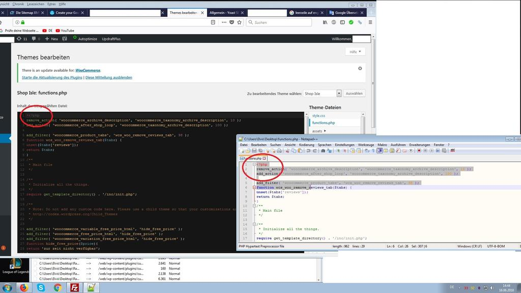 wordpress xml sitemap fehler und functions php leerzeichen abakus