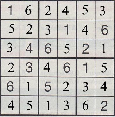 Werner 0085 Mini Sudoku>>gelöst von Daddy 33019176mx
