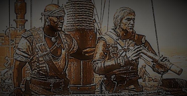 Kupferstich von Yako und Aro auf der Toro