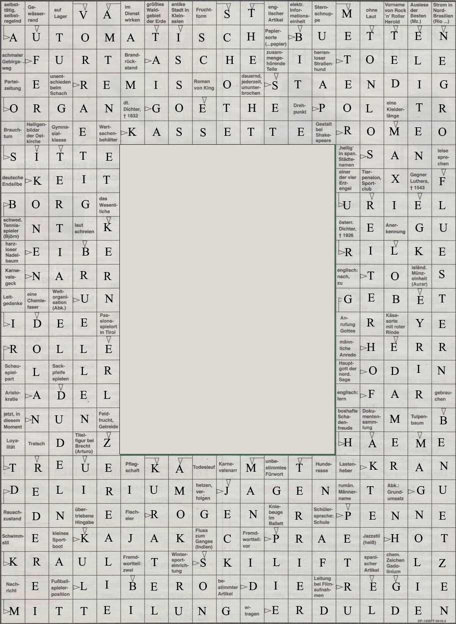 Werner 0091 Kreuzworträtsel>>gelöst von Daddy 33320036ne