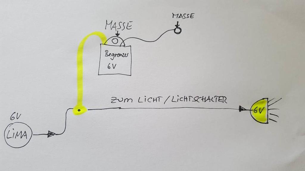 70 W Spannungsregler 6 Volt mit Anschlussplan Universal Spannungsbegrenzer 6 V