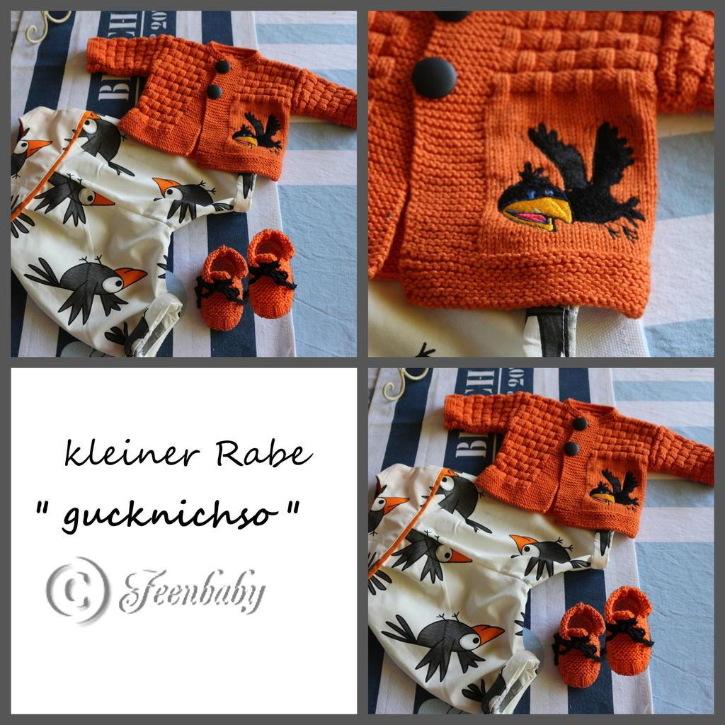 """Kleiner RAbe """" Gucknichso """" 33604080xe"""