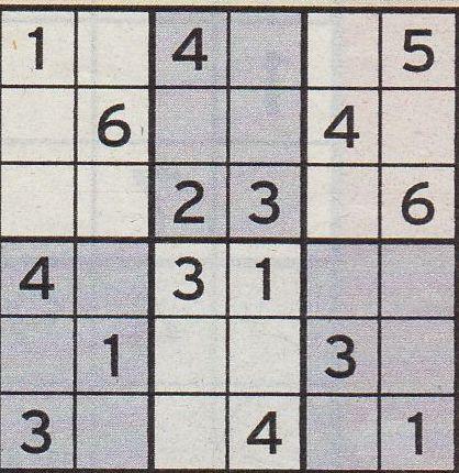 Werner 0120 Mini Sudoku>>gelöst von Daddy 33666515di