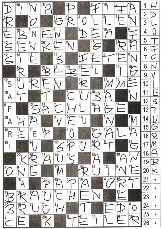 Daddy 0242:Zahlen-Kreuzwort-Rätsel>>>GEL.VON WERNER 33857453xl
