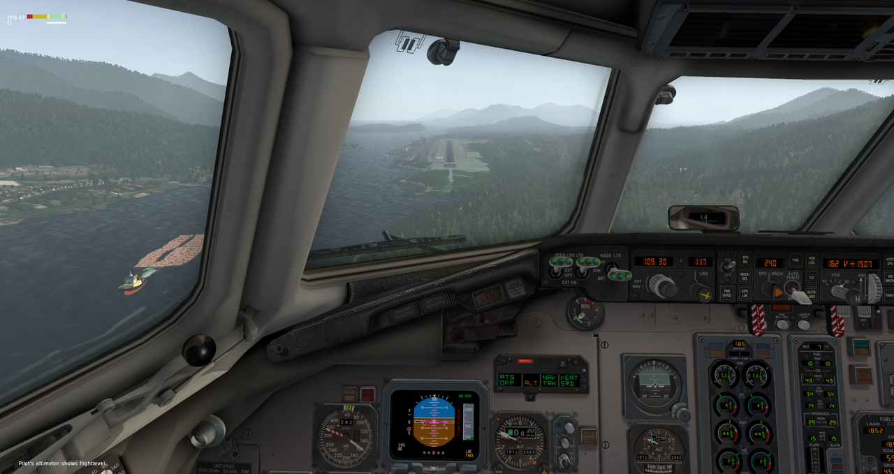 Mit der Default MD-82 von Anchorage nach Ketchikan 33962400ga